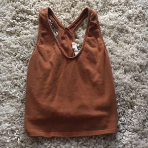 Cute cropped tank with razor back!